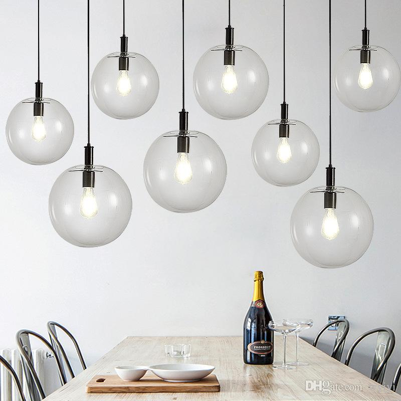 Fremragende Großhandel Nordic Pendelleuchten Globus Chrome Lampe Glaskugel ED12