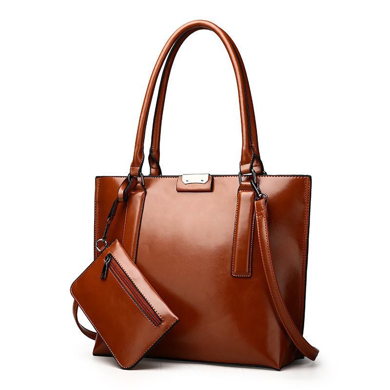 Einfarbig Handtasche Die Schulter Helle Europa Kapazität Neue Mutter L5RAj4