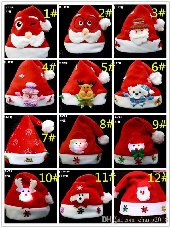 dd3241cf6105a Christmas Ornaments Decoration Christmas Hats Santa Hats Children Women Men  Boys Girls Cap For Christmas Party Props Sun Hat Hats For Men From  Chang2018