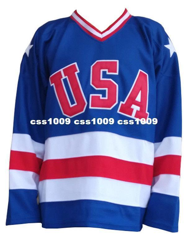 621528890db 2019 Cheap Wholesale USA Team 1980 Hockey Jersey Miracle On Ice Team Blank  Sewn Hockey Jersey Customize Any Name Number MEN WOMEN YOUTH Jersey From ...