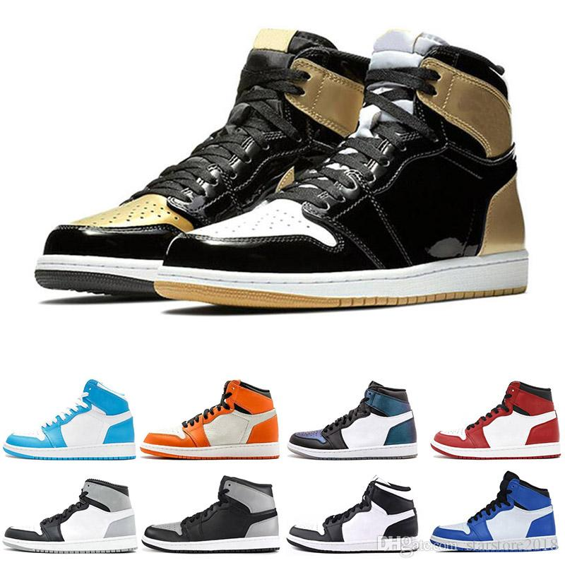 4aa0bdd0346640 2019 New 1 1s Men Basketball Shoes Fragment New Love Black Toe Gold Top 3  Pine Green Shadow Camo Chicago Sports Sneakers Szie 7 13 From  Starstore2018