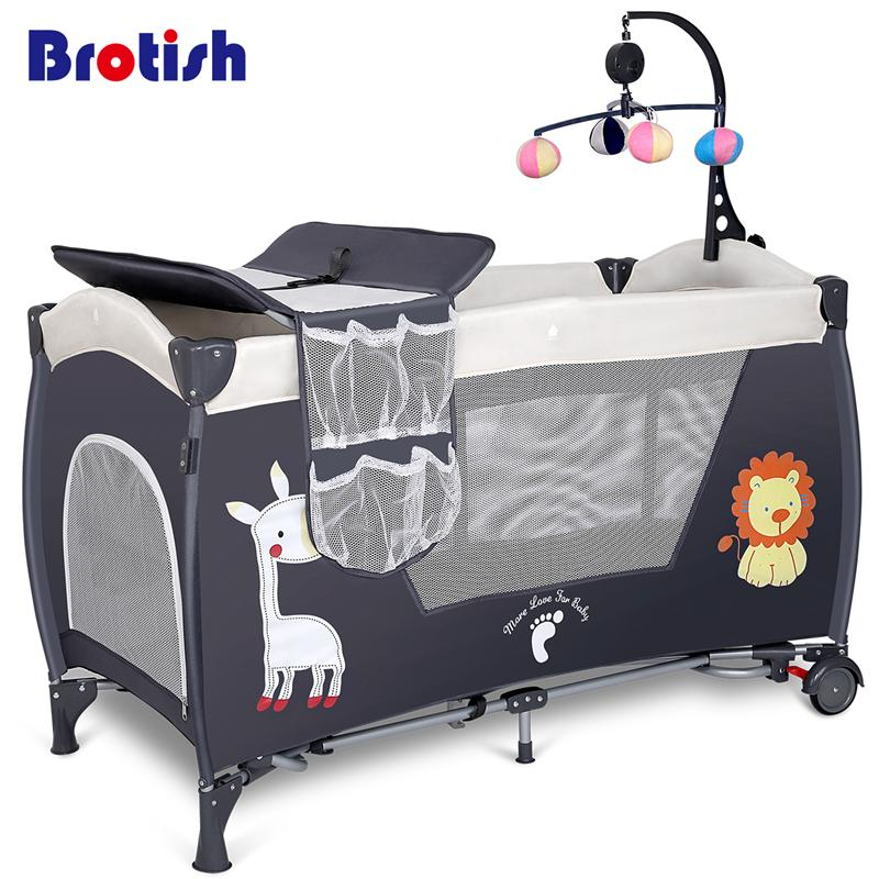 Bassinets & Cradles Sincere Portable Folding Baby Crib Multifunctional