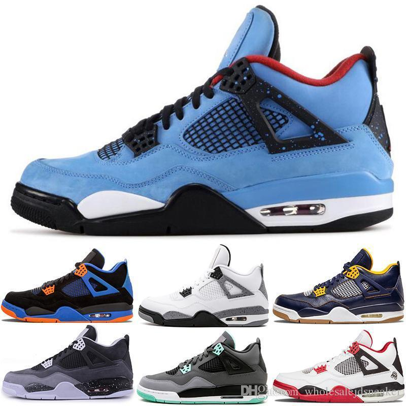 Shoes Basketball 4 4s Bred Lightning Pale Citron Pizzeria Cement Motosports Oreo Black Cat Mens Trainer Sports Sneakers 7-13 Wholesale