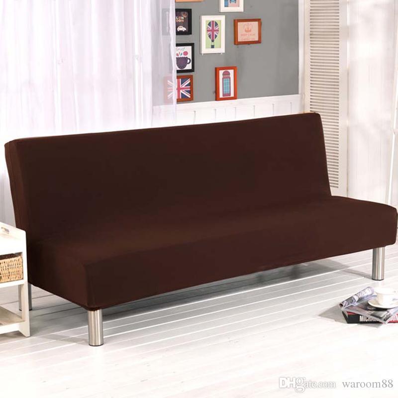 Universal Sofa Bezug Volltonfarbe All Inclusive Falten Stretch Schlafsofa Sofa Cover Protector Schutzhulle Ohne Armlehnen Dekoration