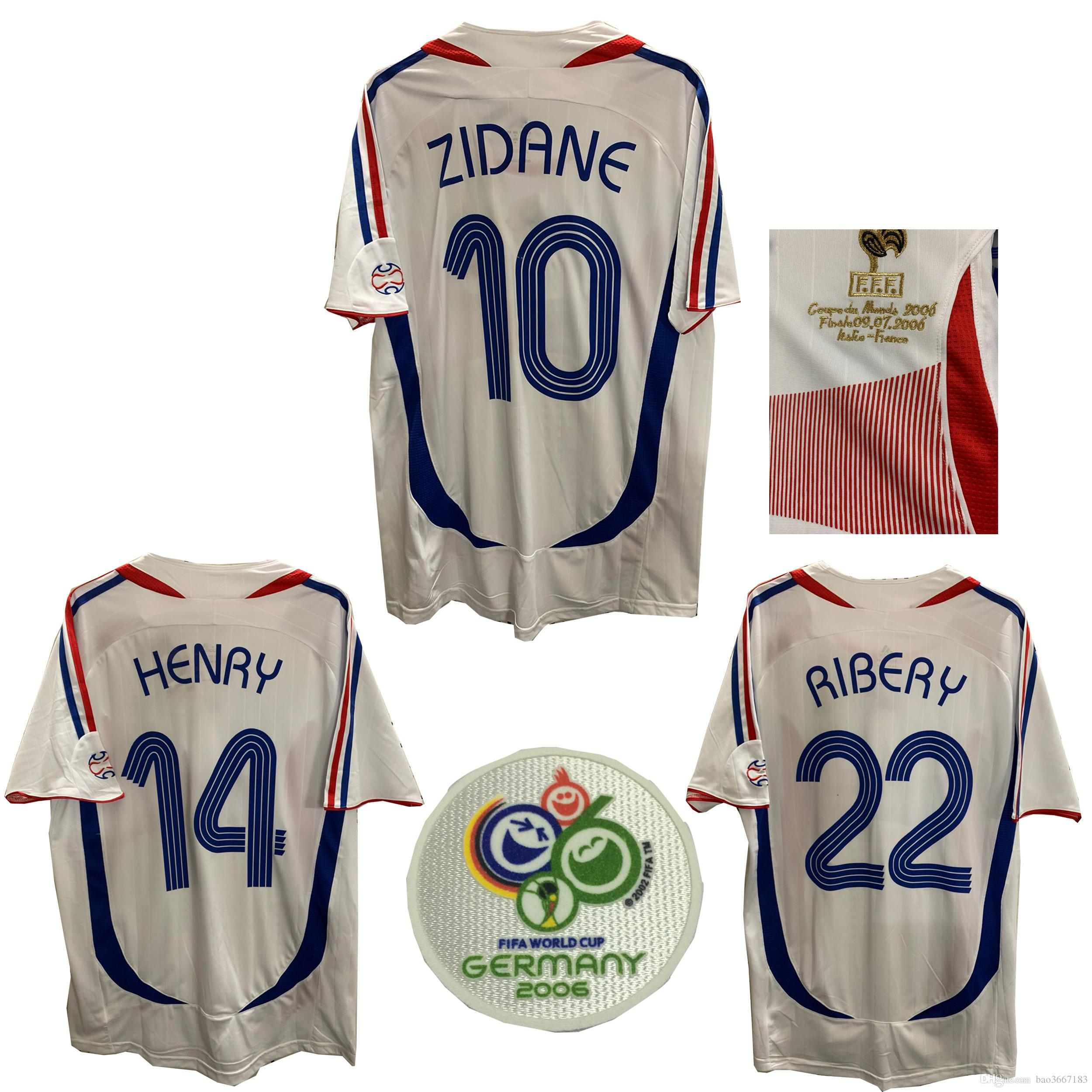2019 2006 World Cu FRANCE Retro Soccer Jerseys Zidane MALOUDA Henry RIBERY  VIEIRA TREZEGUET MBAPPE GRIEZMANN KANET FRANCE Retro Football Shirts From  ... fdfa2f54c