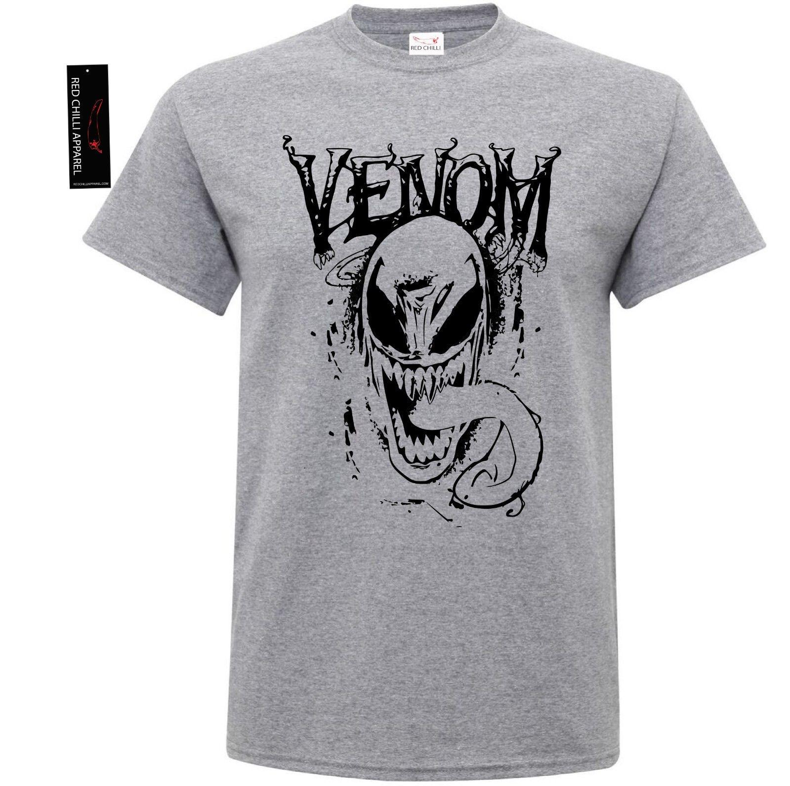 df12d7a6267d76 Marvel Venom Inspired T Shirt Face Mask Logo Spiderman Gym Workout Shirt A  Team Shirts Be T Shirts From Capable72, $11.17  DHgate.Com