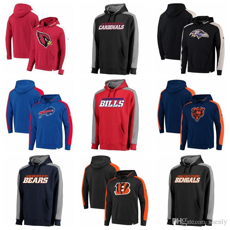 save off e6fca 5536f Luxury sweatshirt Men Brand hoodie Cardinals Ravens Bills Carolina Panthers  Bears Bengals Iconic Pullover Hoodie