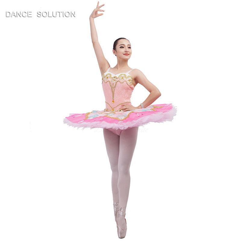 58a9df9029 2019 B17012 Pink Bodice With Tulle Skirt Professional Ballet Tutu For  Girl&Woman Ballerina Stage Performance Costumes Classical Dress From  Xinpiao, ...