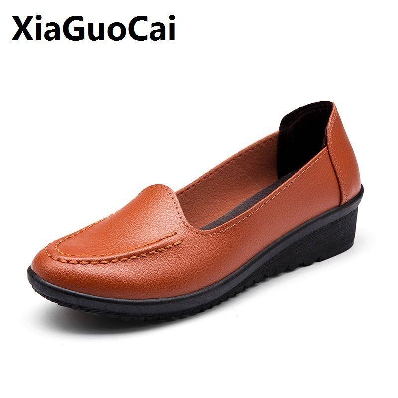 058d19f8c2e7 Дизайнерские Туфли Женщины Мокасины Мокасины Кожа Оксфорд Дышащий Мать  Девушки ...