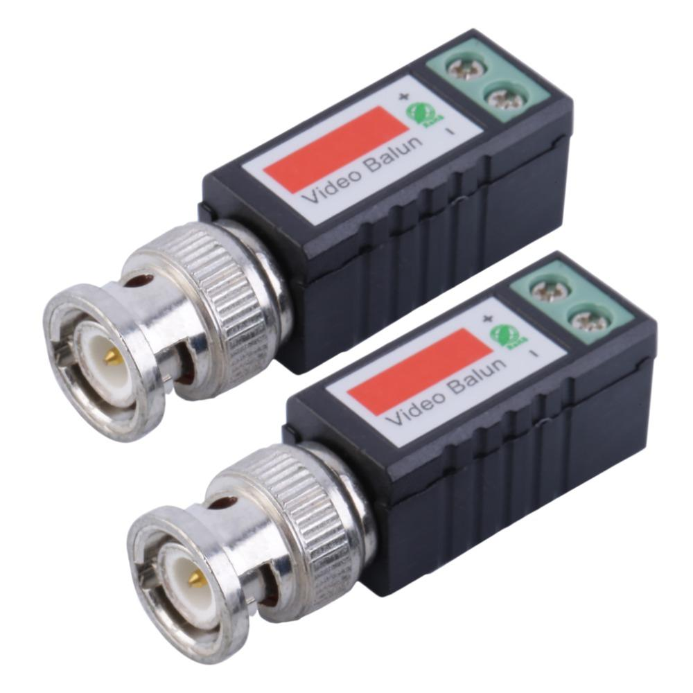 Freeshipping 1 Pair Single 1 Channel Passive Video Transceiver BNC Connector Coaxial Adapter For Balun CCTV Camera DVR BNC UTP