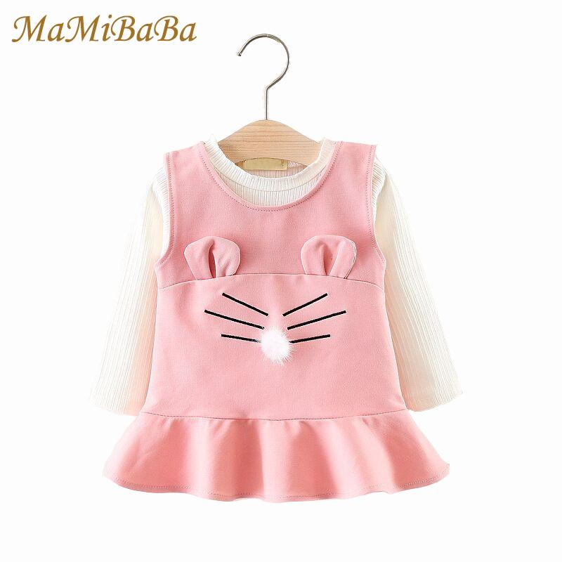 a04b2a9647c4 2019 Kids Girls Clothing Sets 2019 New Spring Solid Fashion Cotton O ...