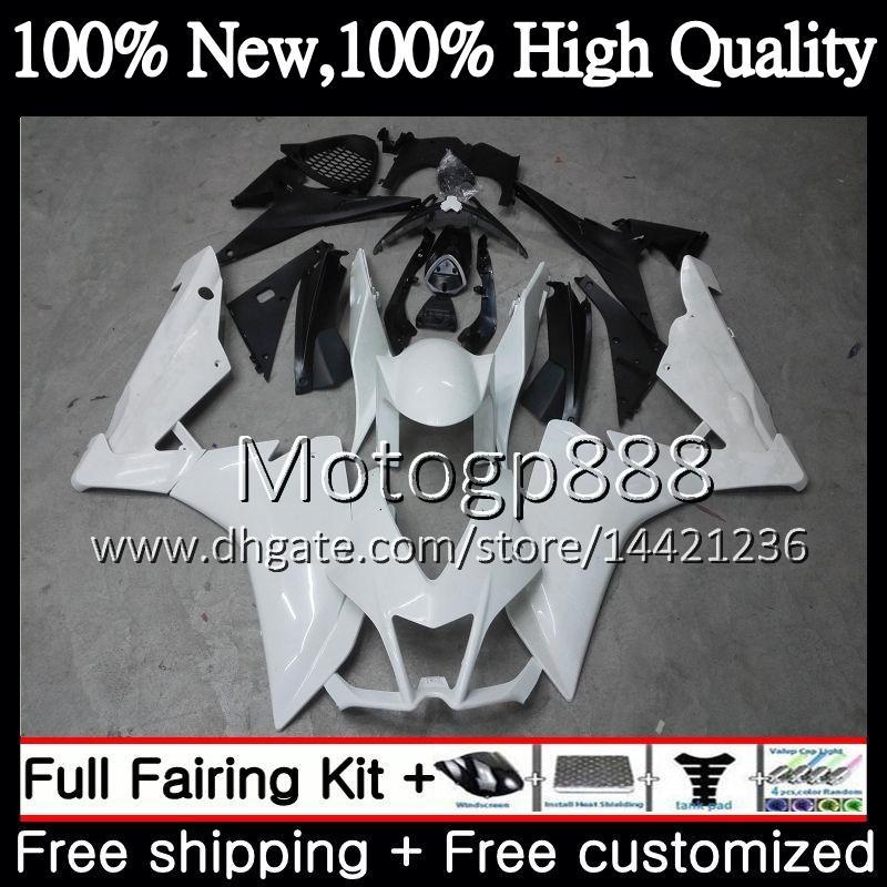 Inyección para Aprilia blanco brillante Mille RSV1000 09 10 11 12 13 14 15 3PG3 RSV 1000R RSV1000R 2009 2010 2011 2012 2015 Carenado Carenado