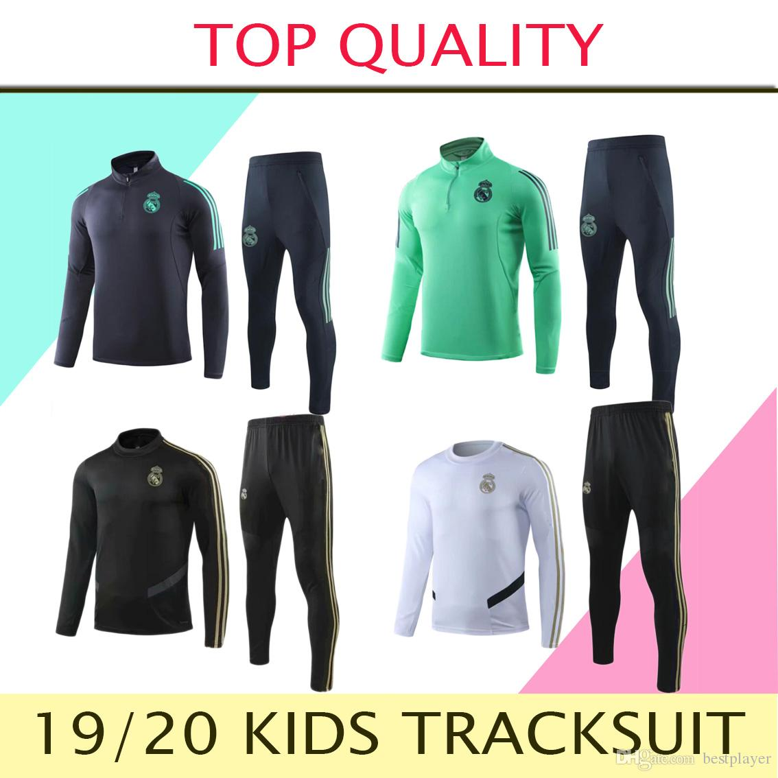 2019 2020 Real Madrid kids TRACKSUIT TRAINING SUIT veste de football chandal HAZARD ASENSIO ISCO youth BOYS survêtement REAL MADRID