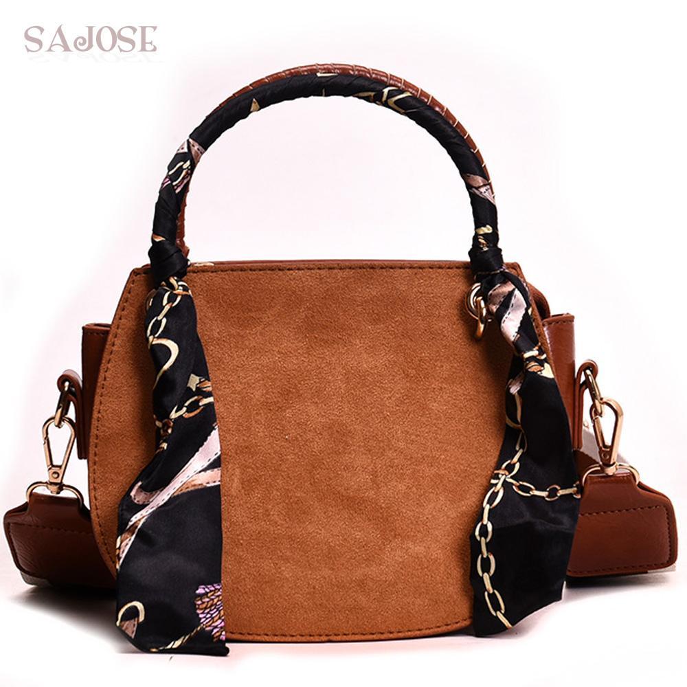 0c1e44e05 Compre Crossbody Bolsos Para Las Mujeres Diseñador De Moda Bufanda Vintage  Brown Saddle Bag Alta Calidad Bolso De Cuero Hombro Messenger Bags A $24.66  Del ...