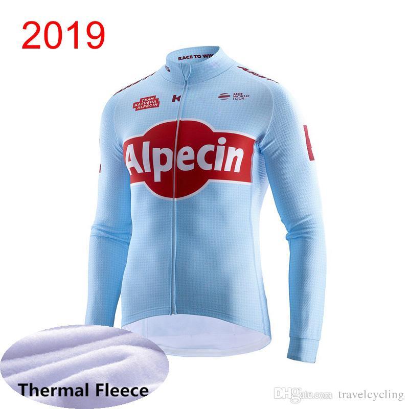2019 KATUSHA Men s Winter Thermal Fleece Cycling Jersey Mountain ... 0ee18b0fb