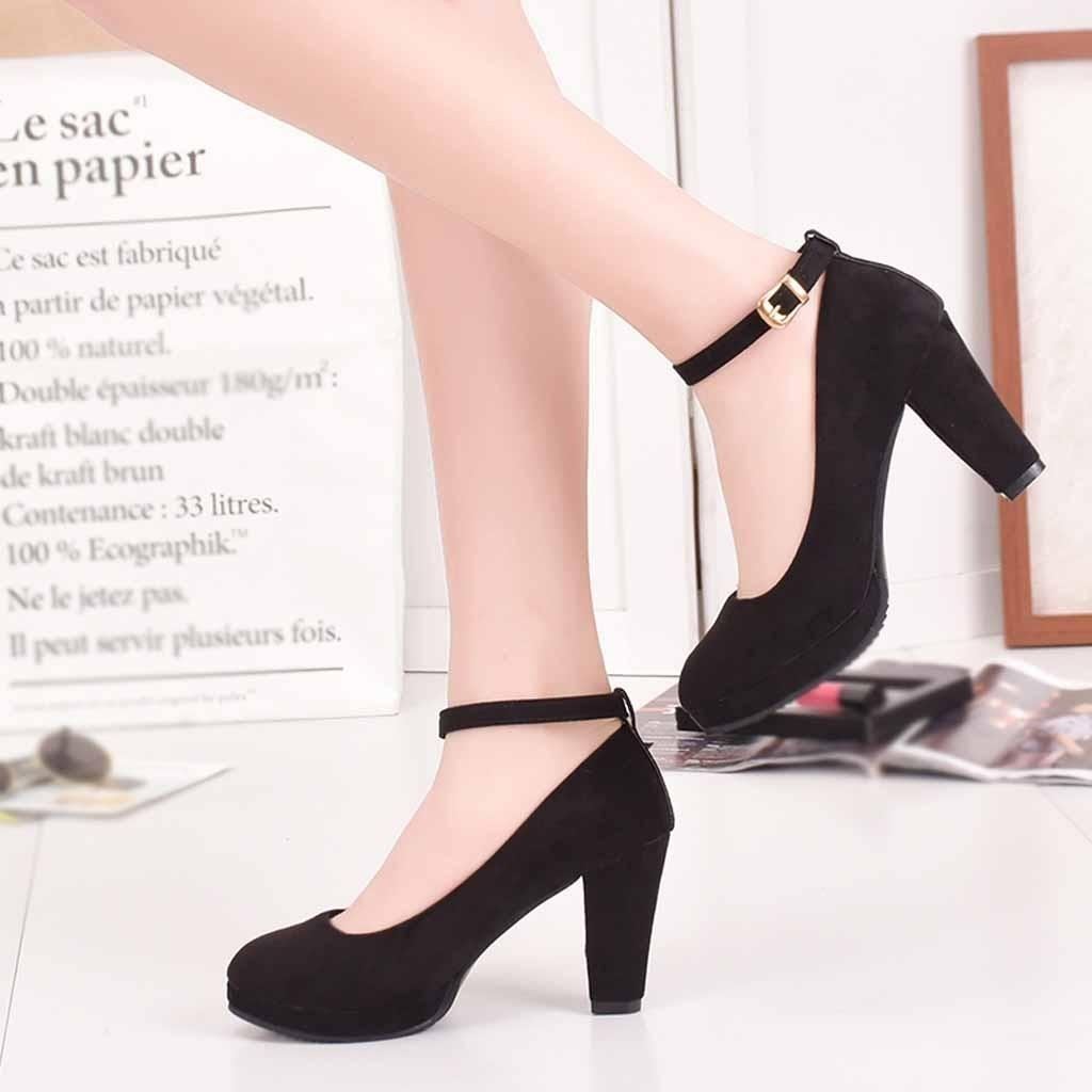 Designer Dress Shoes Youyedian High Heels 2019 Spring Women Pumps Casual  Sweet Cross Buckle Strap Women Black Pink Party Sapato Feminino Oxford Shoes  Ladies ... 2c41bc763ccf
