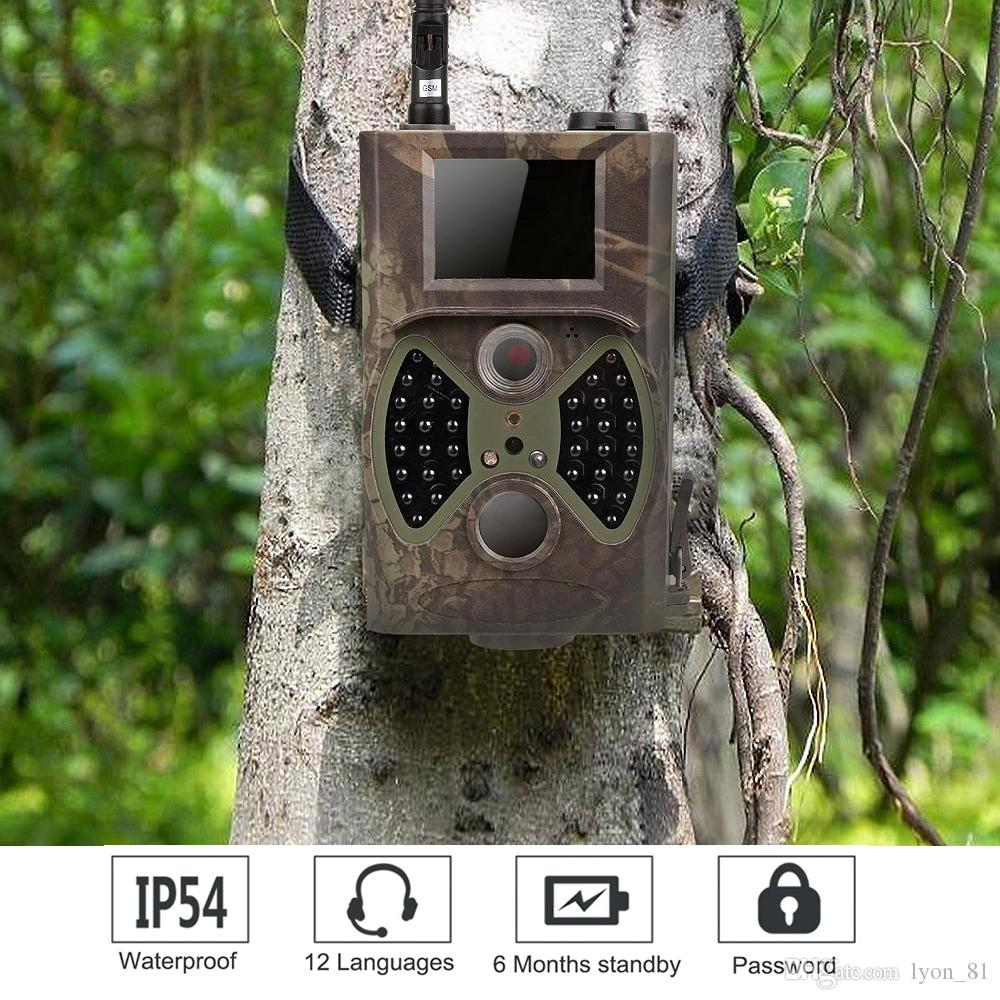 Trail Camera 16MP Email MMS GSM 1080P Wildlife Camera, Night Detection Game  Camera with Time Lapse, Timer, IP65 Waterproof Design