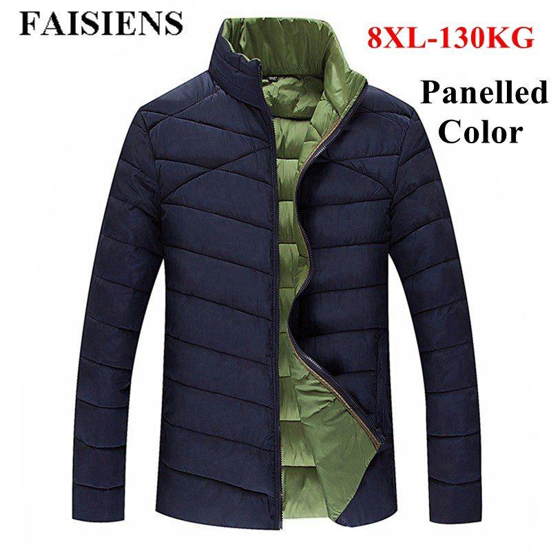 76d119d92 FAISIENS Winter Jackets Men Parka Warm Plus Big Size 5XL 6XL Large 7XL 8XL  Big Tall Man Fashion Overcoat Male Thick Casual Coats