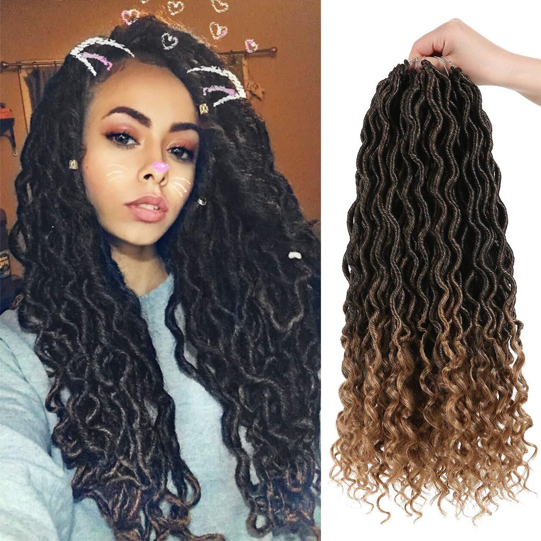 2019 Hot Cheap Crochet Goddess Locs Hair Extensions Faux Locs Curly