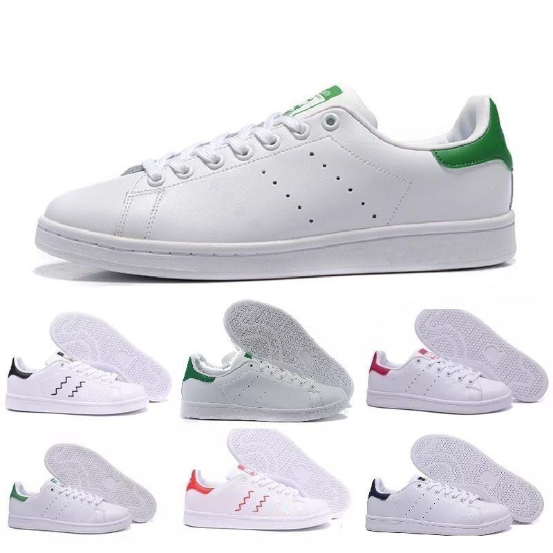 buy online d010e cc79e Adidas Stansmith Shoes 2019 Nueva Llegada Raf Simons Stan Smith Primavera  Cobre Blanco Rosa Negro Moda De Cuero Marca Para Hombre Pisos Zapatillas De  ...