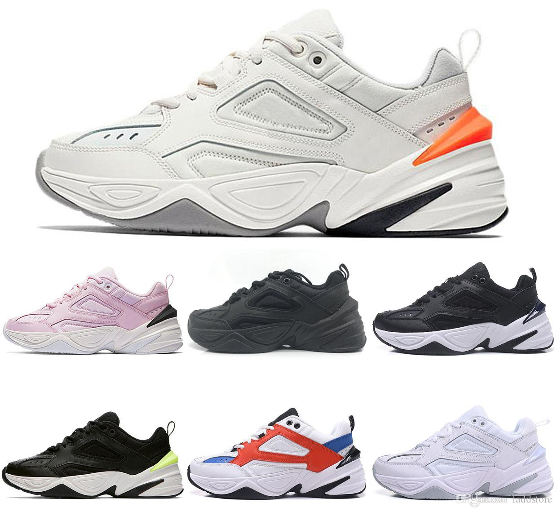 nike M2K Tekno 2019 Techno Future Chaussures formateurs Chaussures Femmes Hommes gris chaussure papa chunky John Elliott Running Athletic Collection