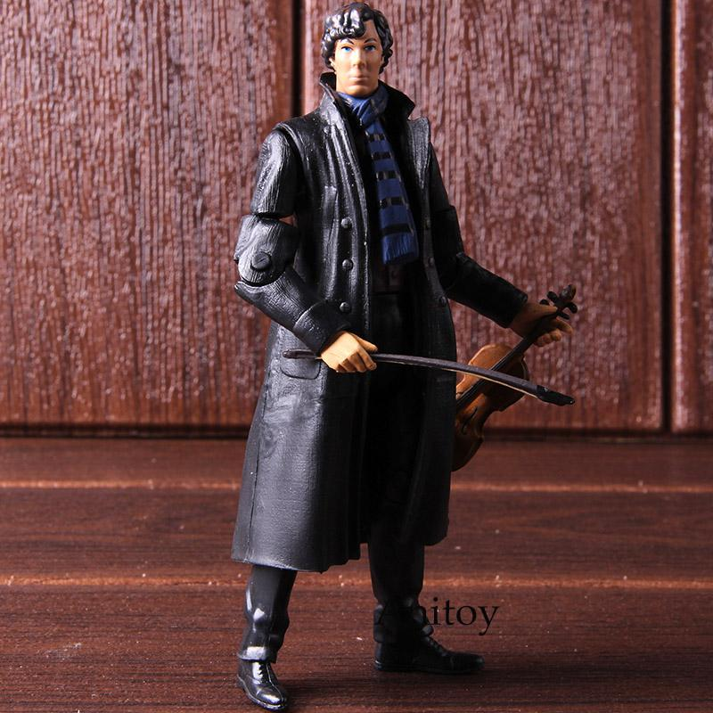 2019 Sherlock Figure Detetive Sherlock Holmes Gifts For Boys With Phone Violin Skull Poseable Arms PVC Action Figures Collectible Mod From Babyxiong, ...