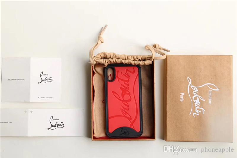 Estuche de teléfono de lujo para Iphone XS Estuche de teléfono para el diseñador de marca de Iphone Estuche para iPhone X 678 Plus