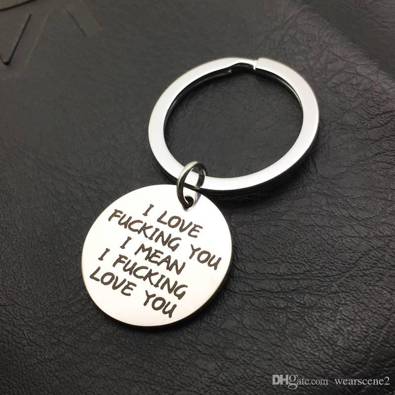 25mm fashion keychain engraved keychain gifts for couples key rings