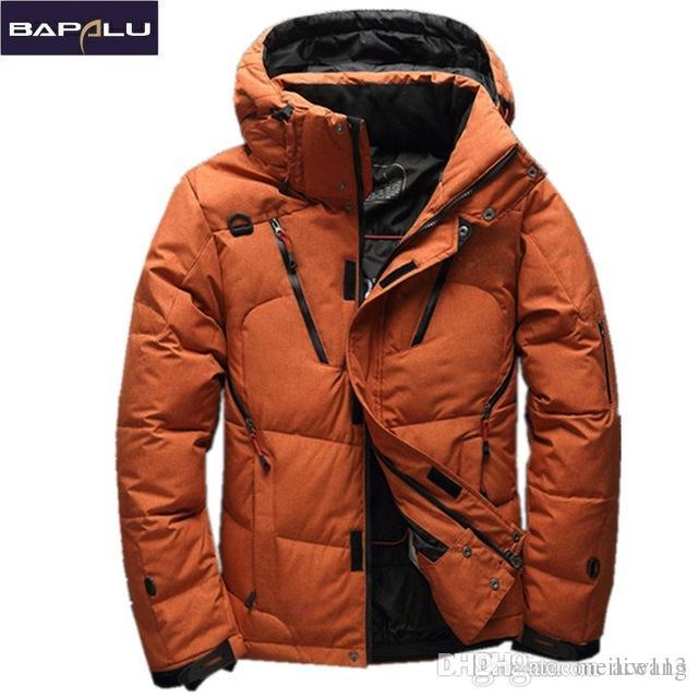 save off 16881 96372 Cappotto degli uomini del piumino anatra bianca di alta qualità 90%  Cappotto degli uomini della neve Parka maschio Caldo Abbigliamento di marca  ...