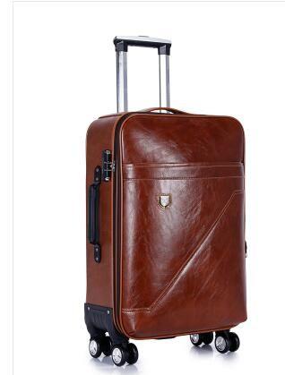 900405c32e275 Satın Al PU Haddeleme Bagaj Bavul Kabin Iş Seyahat Arabası Çanta Erkekler  Için Bagaj Bavul Çanta Tekerlekler Spinner Tekerlekli Çanta, $110.38 |  DHgate.