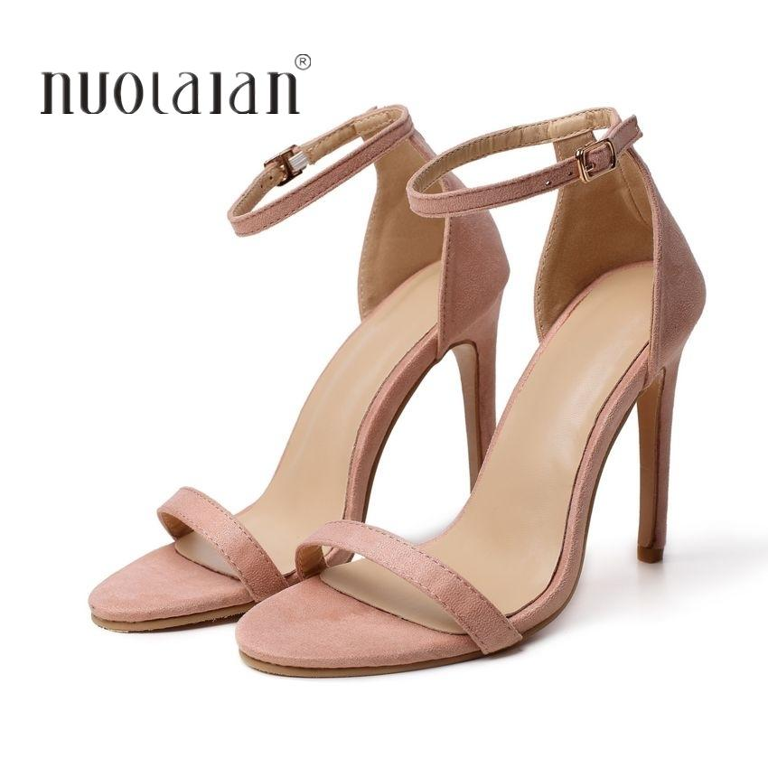 09b8c68186ca5 Dress 2019 New Fashion Woman Shoes Ankle Strap High Heel Party Wedding Shoes  Big Size 35 42 Sexy Peep Toe High Heels Pumps Women Shoes White Shoes  Wholesale ...