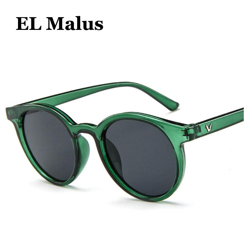 new Round Frame Sunglasses Women Retro Brand Designer Pink Green Yellow Sun Glasses Female Fashion Outdoor Driving A Great Variety Of Models Women's Glasses el Malus Women's Sunglasses