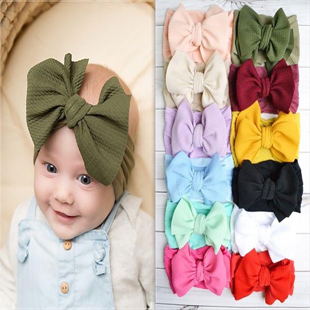 Baby Girls Toddler Elastic Twist Knot Hair Band Headband Stretch Turban Headwrap