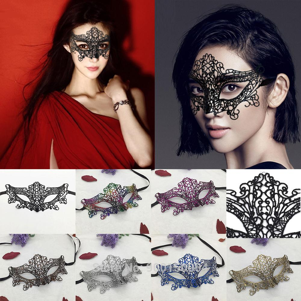 Wholesale 100pcs Halloween Masks For Girls Half Face Carnival Masquerade Easter Prom Party Mask Black Helloween Decoration