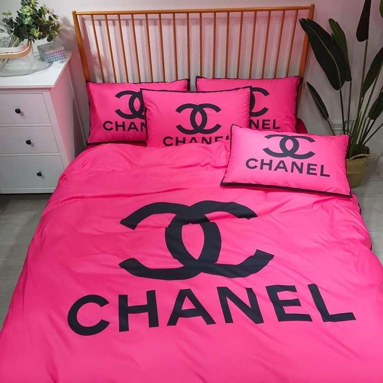 Brand Design Letter Logo Print Bedding Set King Size Cotton Bed Set
