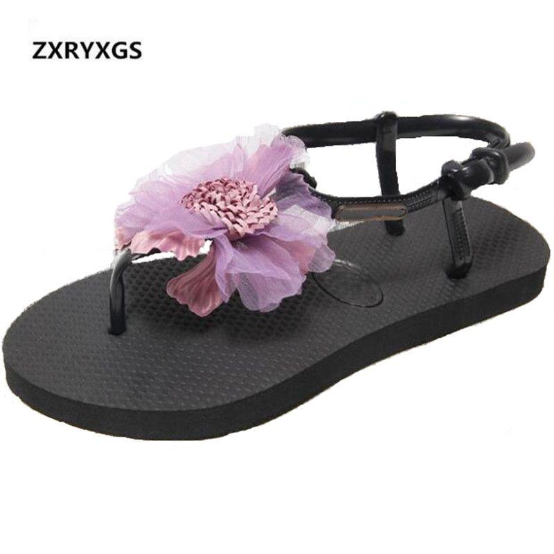 1f26aa07637a9 Fashion Handmade Flower Women Sandals 2019 New Summer Comfort Casual Shoes  Woman Flat Sandals Non-slip Wild Soft Beach