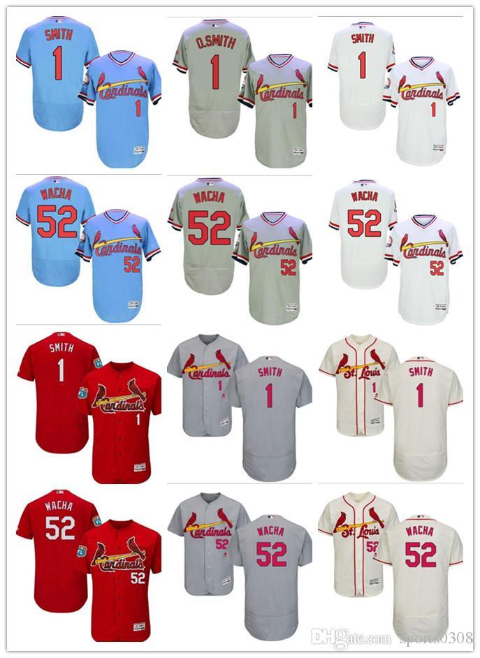 4afe31c12 2019 custom St. Louis Men's women youth Majestic Cardinals Jersey #52  Michael Wacha 1 Ozzie Smith HOME Red Grey White Baseball Jerseys
