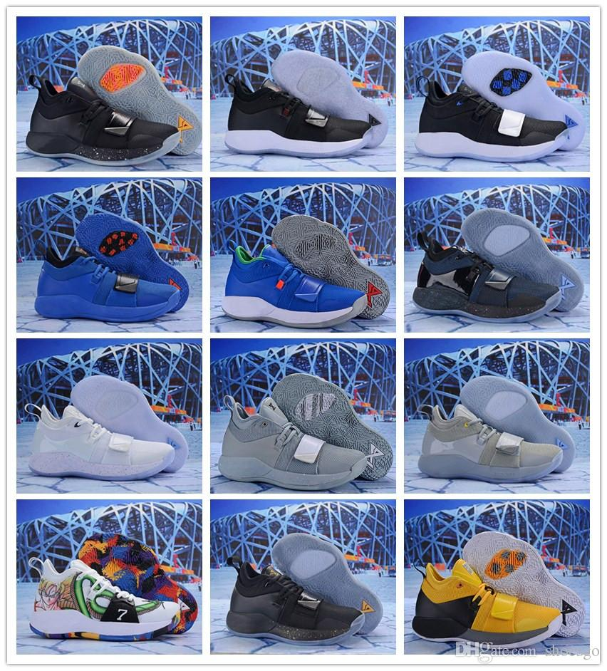 wholesale dealer 9eadd a32be Cheap Mens Paul George PG 2.5 basketball shoes new arrival PG2.5 White Blue  Wolf Grey Black Yellow sneakers with box