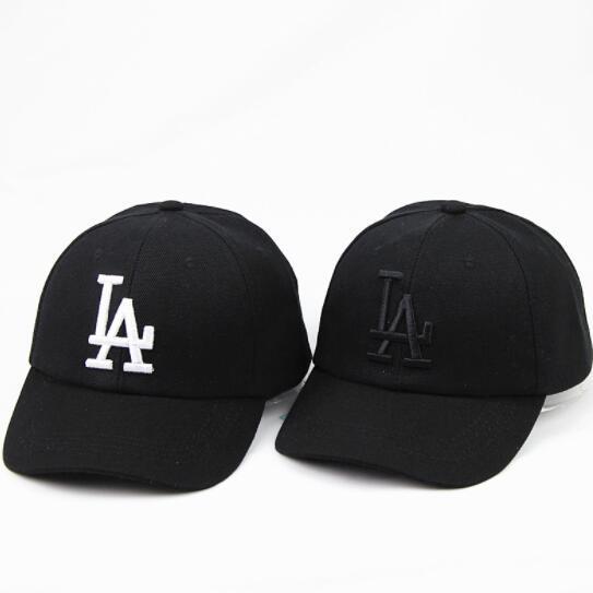 b84c58a9 High Quality LA Cap For Men Women Snapback Caps Fashion LA Hats Letter 3D  Embroidery Casual Hip Hop Cap Cotton Couple Hat Summer Fitted Caps Black  Baseball ...