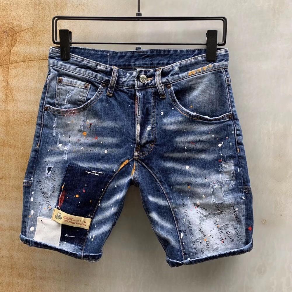 bc617dddf Verano nuevos pantalones cortos de mezclilla hombres d2 019 lavado high-end  autocultivo moda casual moler coche explosiones 601 D87-1