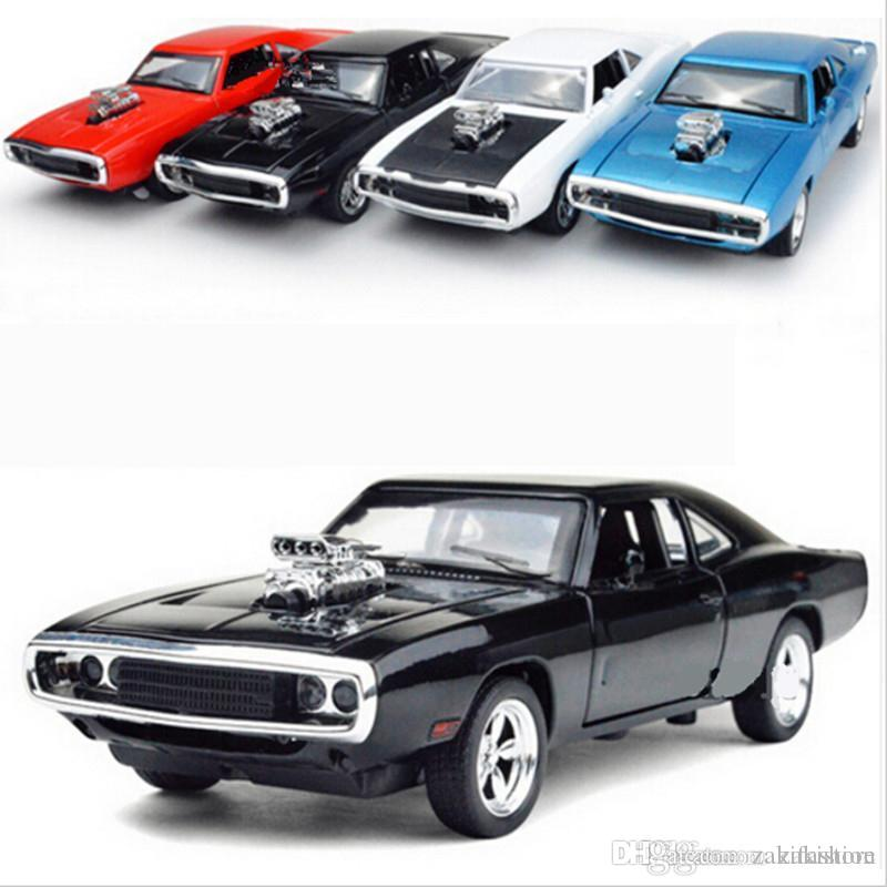 1:32 Scale Fast & Furious 7 Alloy Dodge Charger Pull Back Toy Cars Diecast Model Kids Toys Collection Gift For Boys New Year