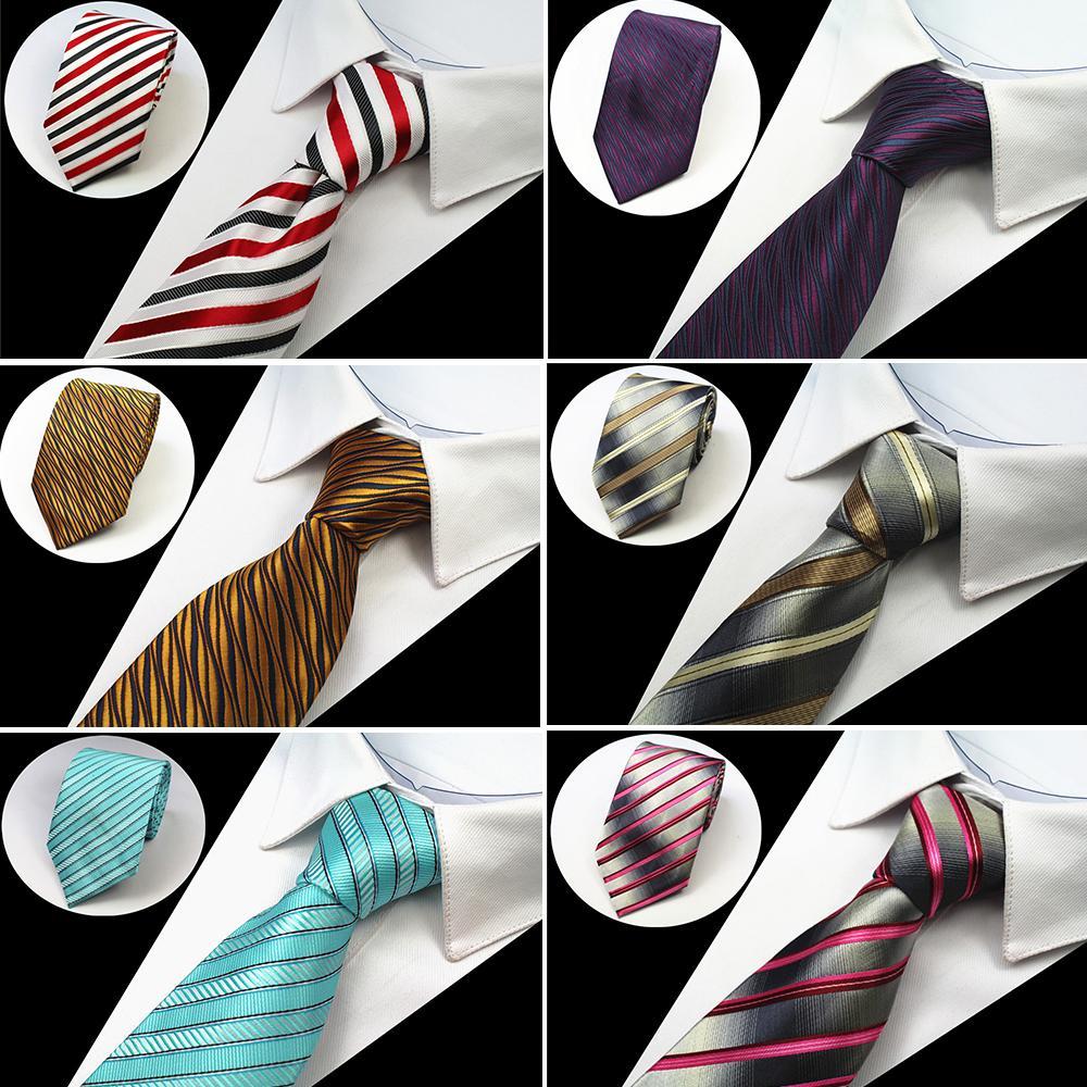 cc27be6f77d25 Acheter Cravate Classique Cravate 8cm Cravate Bleu Cravate Rayé ...