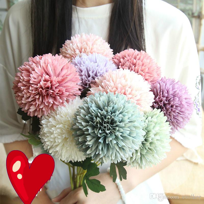 Coolkee NEW 6pcs Artificial Flower Dandelion Flower Bridal Wedding Bouquets for Home Party Design Flowers Decorate Simulation Flowers