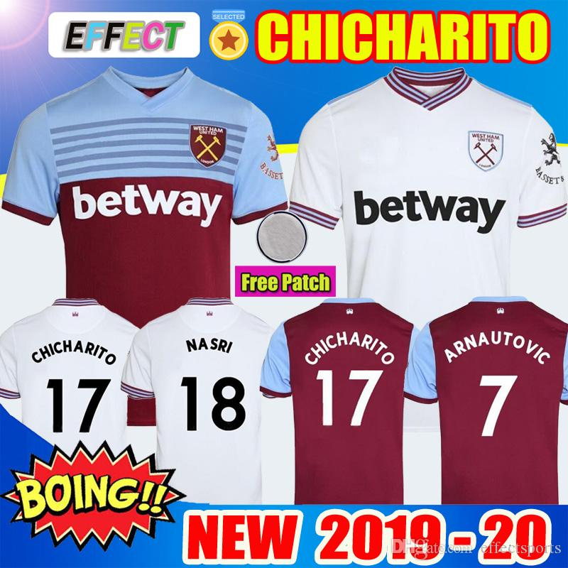 best loved 162fc 773d5 NEW 19 20 West Ham soccer jersey United 2019 2020 home away NOBLE  CHICHARITO jerseys ANDERSON ARNAUTOVIC ANTONIO football shirt uniforms kit