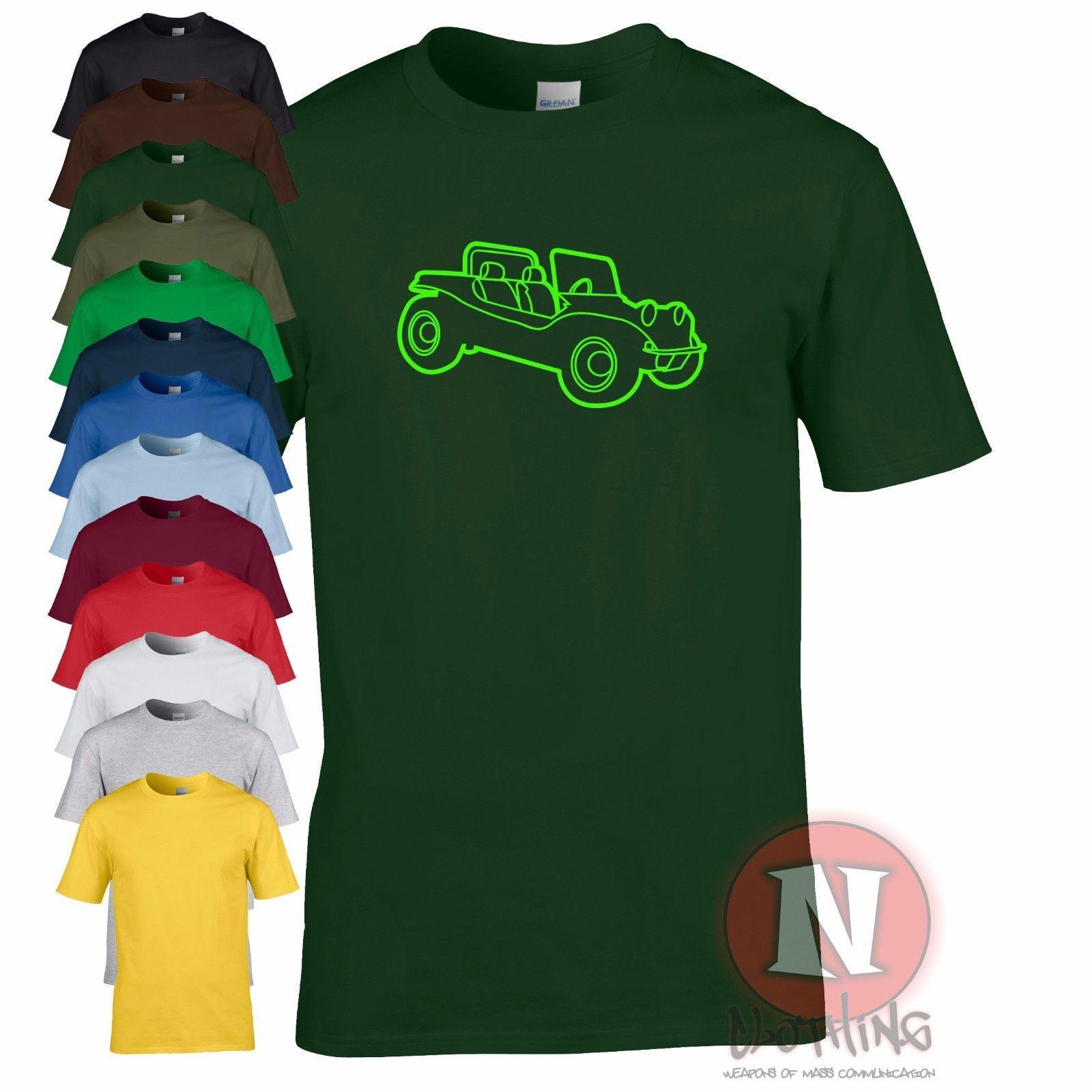 BEACH BUGGY retro cool Vdub Beetle dune car funny T-shirt Funny free  shipping Unisex Casual Tshirt