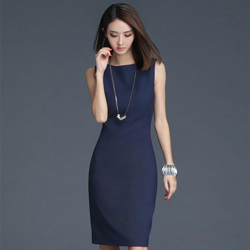 536dec39278e8 Soperwillton 2019 Elegant Office Dress Summer Dresses Women O-neck Wear To  Work Clothes Bodycon Dress Lady Work Vestidos #bd728 Q190417
