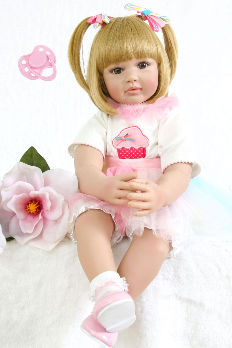 f946a2ceb 60cm Silicone Reborn Baby Doll Toy Realistic 24inch Vinyl Toddler Princess Girls  Babies Doll Fashion Gift Bebe Alive Kids Boneca Novelty Games For Sports ...