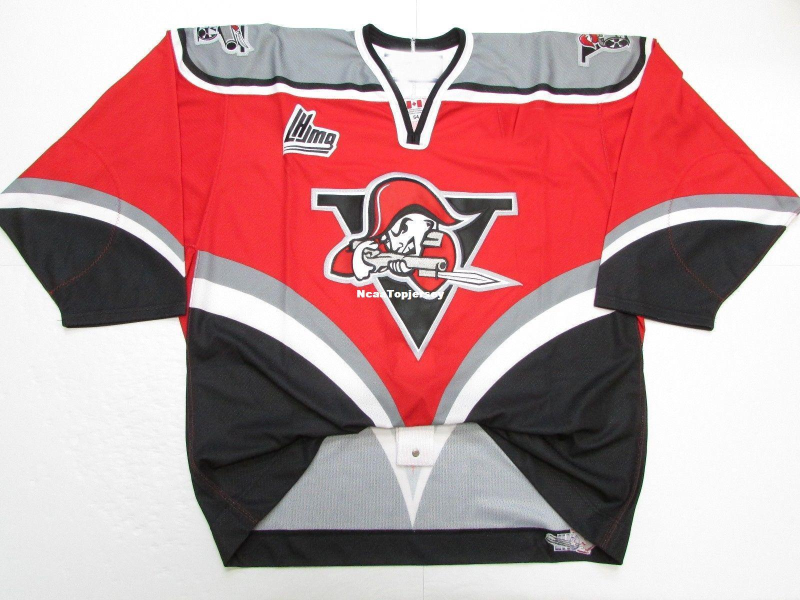promo code 8f1ce b8398 Cheap custom DRUMMONDVILLE VOLTIGEURS QMJHL PRO RED JERSEY stitch add any  number any name Mens Hockey Jersey XS-6XL