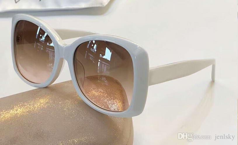 9de26b6fc2917 Women 4811 White Square Sunglasses Brown Shaded Lens 55mm Sun Glasses Gafas  De Sol Top Quality New Wth Box Designer Sunglasses Sunglasses For Women  From ...