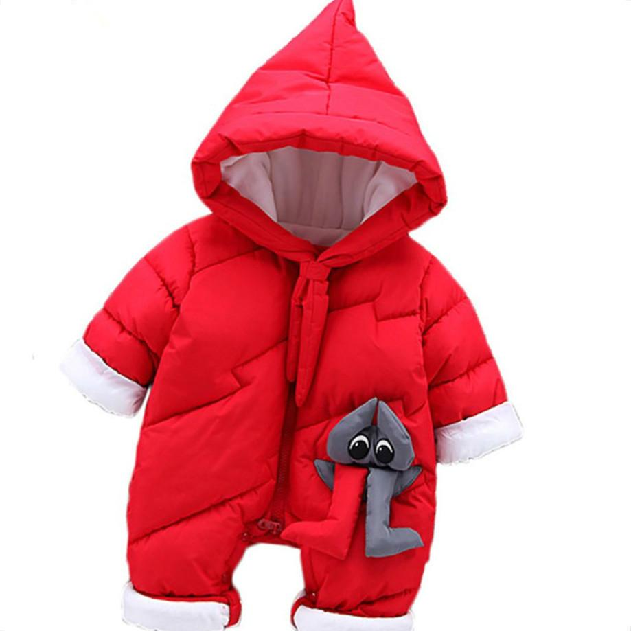 05c63961534d Christmas Suits Costume For Girls Thick Newborn Snowsuit Waterproof ...